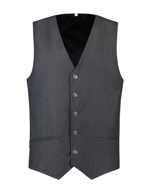 Waistcoat James Black Denim