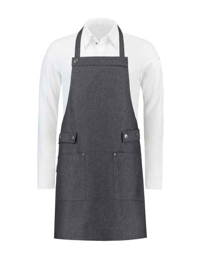 Bib Apron Dakota Heavy black denim