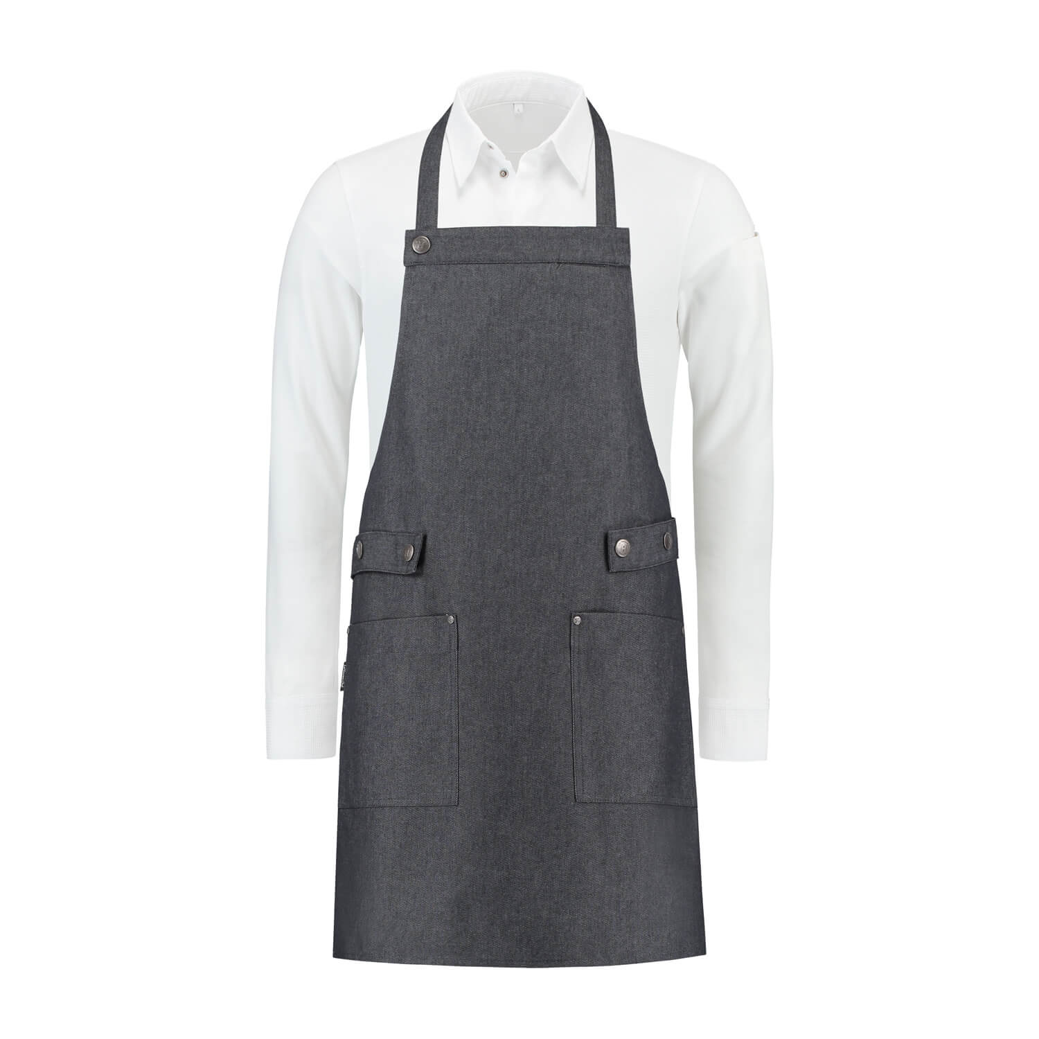 Bib Apron black denim Dakota