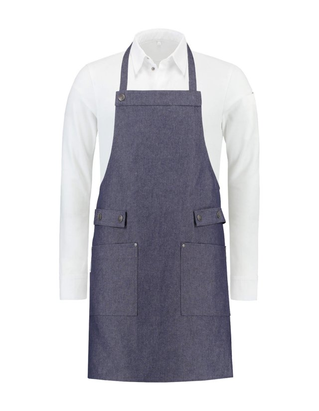 Bib Apron Dakota Heavy Blue denim