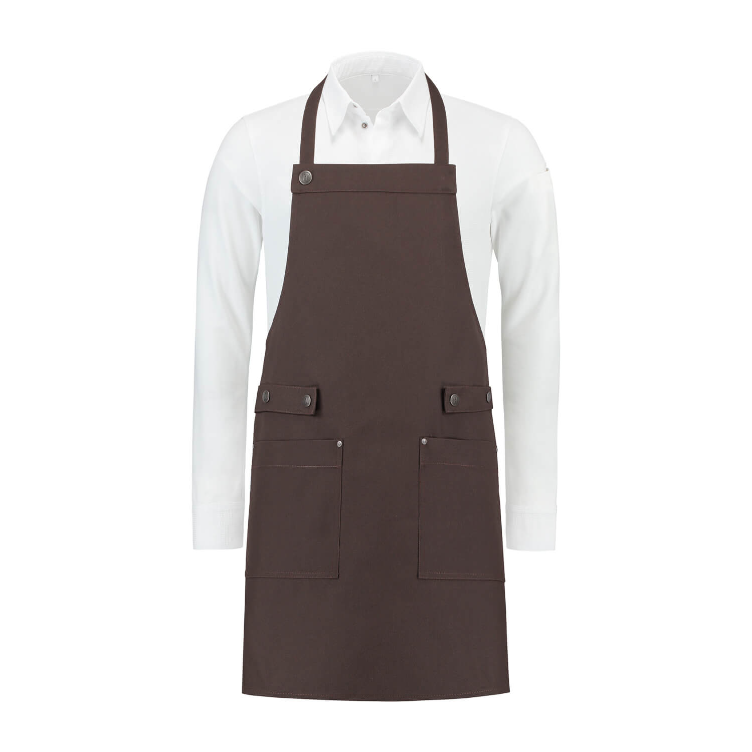 Bib Apron brown canvas Dakota