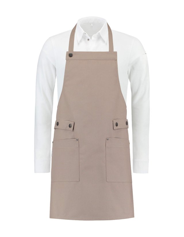 Bib Apron Dakota Sand Canvas